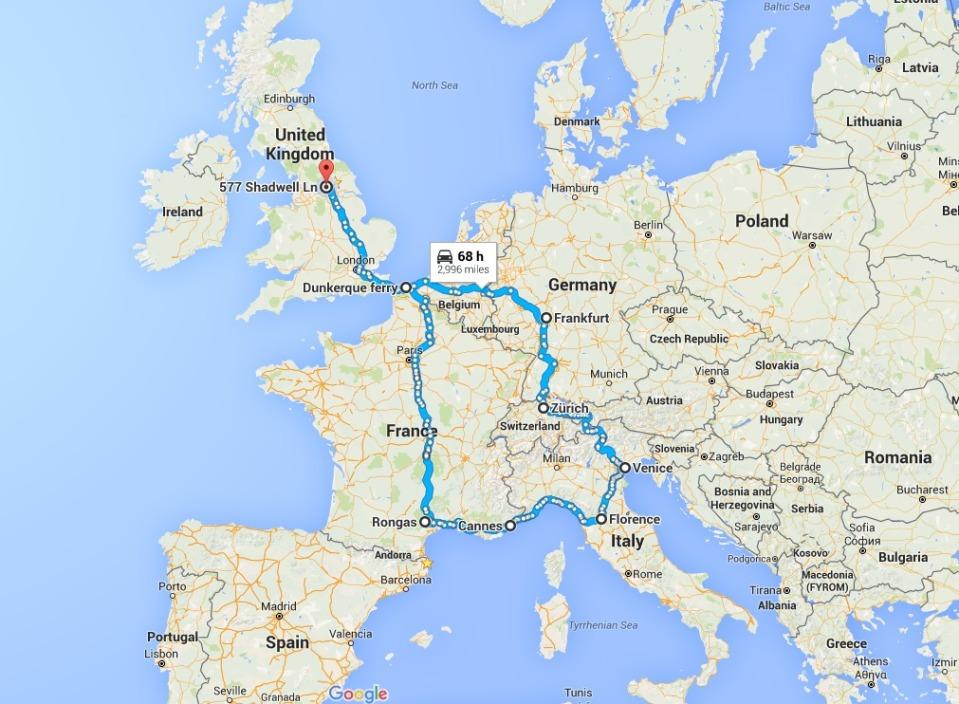 European road Trip 2016