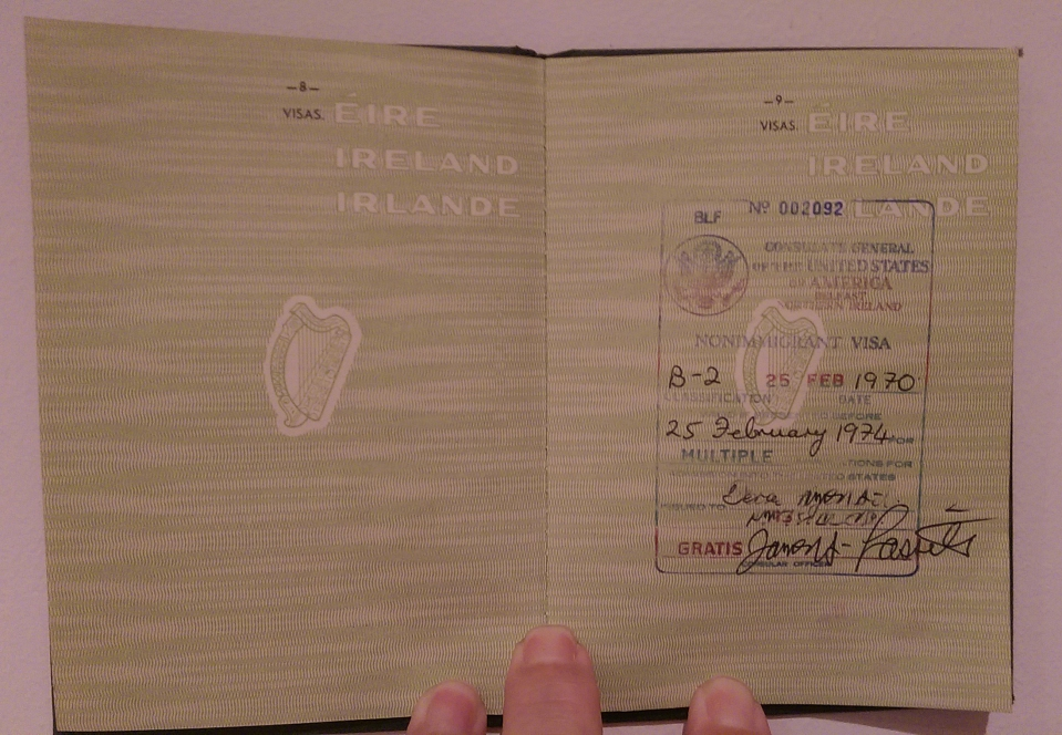 Irish Passport American Visa
